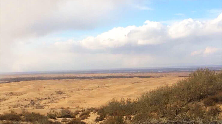 モンゴルの砂漠